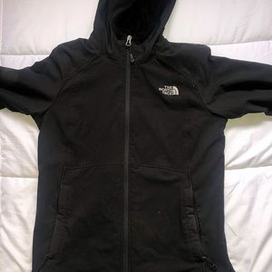 The north face, fleece lined black jacket like new